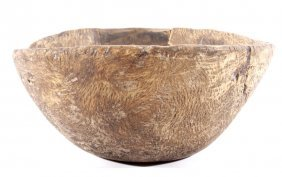 Plains Indian Carved Burl Wood Bowl 18th-19th C.