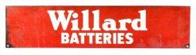 Willard Batteries Advertising Sign