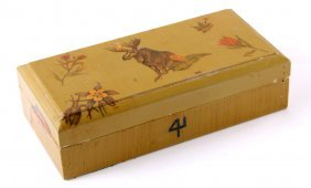 4 Lazy F Dude Ranch Wooden Box
