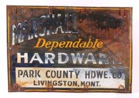Park County Hardware Sign Livingston Montana
