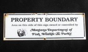 Montana Wildlife Management Area Boundary Sign