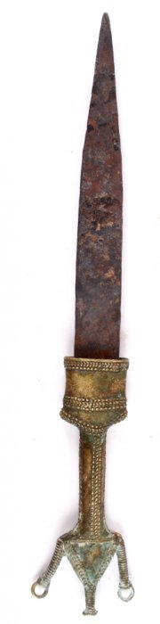 Early Kuba Kingdom Brass Ceremonial Dagger