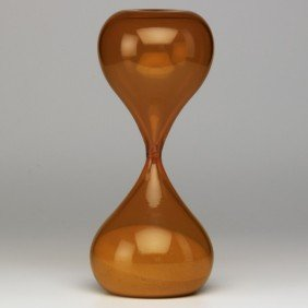 VENINI; Blown Glass Hourglass