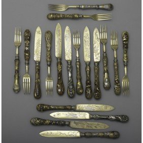 EDO JAPANESE MIXED METAL FLATWARE
