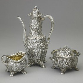 TIFFANY & CO. AFTER-DINNER SILVER COFFEE SERVICE