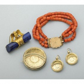 ARCHEOLOGICAL REVIVAL GOLD OR CORAL JEWELRY