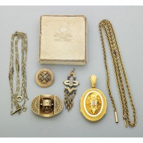 TIFFANY & CO. AND OTHER VICTORIAN GOLD JEWELRY