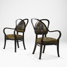 THONET; Pair Of Armchairs