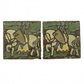 GRUEBY; Two Tiles Of Knights