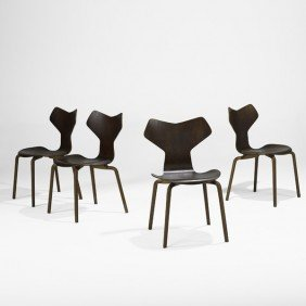 ARNE JACOBSEN; Grand Prix Chairs
