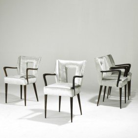 PAOLO BUFFA; Set Of Four Dining Chairs