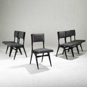 CARLO DI CARLI; SINGER AND SONS; Six Dining Chairs