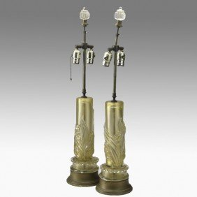 BAROVIER (attr.); Pair Of Table Lamps