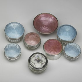STERLING AND ENAMEL ITEMS
