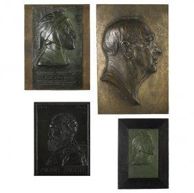 Bronze Plaques Of Italian Figures