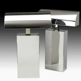 KARL SPRINGER Pair Of Sculpture Table Lamps