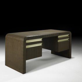 KARL SPRINGER Leather-covered Desk