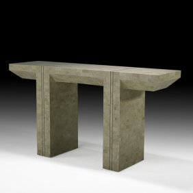 KARL SPRINGER Tessellated Stone Console