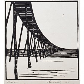 WHARTON ESHERICK Two Woodblock Prints