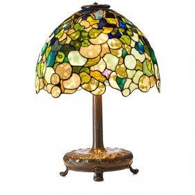 "Tiffany Studios, Etc. Hydrangea ""snowball"" Lamp"