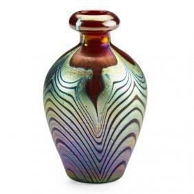 Tiffany Studios Red Glass Cabinet Vase