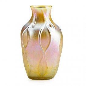 Tiffany Studios Gold Favrile Glass Vase
