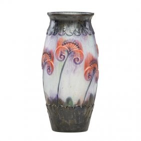 Gabriel Argy-rousseau Pâte-de-verre Papyrus Vase