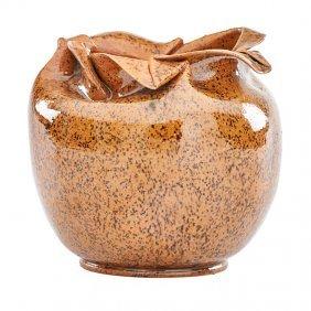 George Ohr Vase With Ruffled Rim