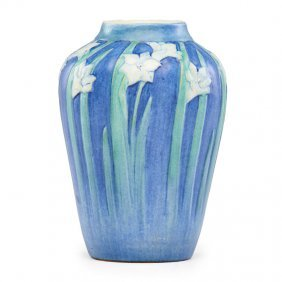Newcomb College Vase With Paperwhites