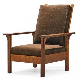 Gustav Stickley Open-arm Morris Chair