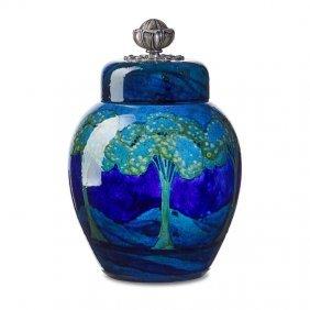 Moorcroft; Shreve Moonlit Blue Landscape Jar