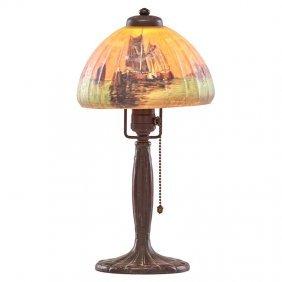 Handel Boudoir Lamp, Venetian Shade
