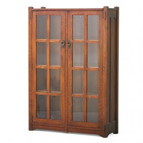 Stickley Brothers Double-door Bookcase