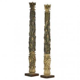 Philadelphia Centennial Exhibition Unique Columns