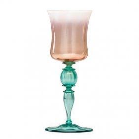 Tiffany Studios Pastel Favrile Glass Goblet