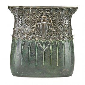 Gustav Gurschner Secessionist Beetle Vase