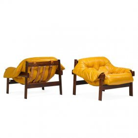Percival Lafer Pair Of Lounge Chairs