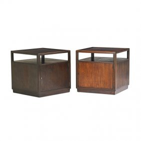 Edward Wormley; Dunbar Pair Of Side Tables