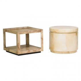 Karl Springer Two Side Tables