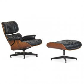 Charles And Ray Eames Lounge Chair, Ottoman
