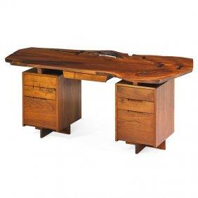 George Nakashima Double-pedestal Desk