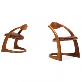 Wendell Castle Pair Of Armchairs
