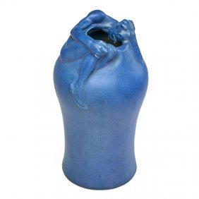 Van Briggle Important Early Despondency Vase, 1902