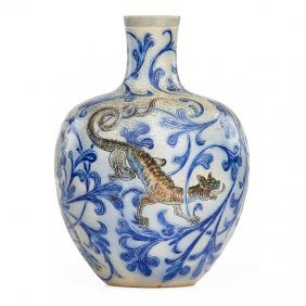 Martin Brothers Vase With Dragon