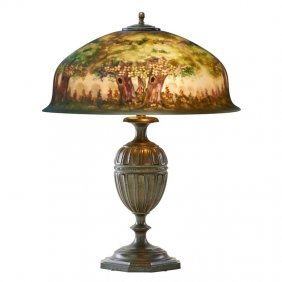 Pairpoint Table Lamp With Forest