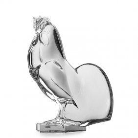 Lalique Large Rooster Sculpture