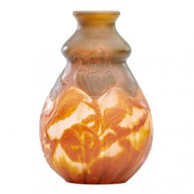 Galle Fine Wheel-carved Cameo Glass Vase
