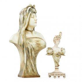 Riessner, Stellmacher & Kessel Two Amphora Busts