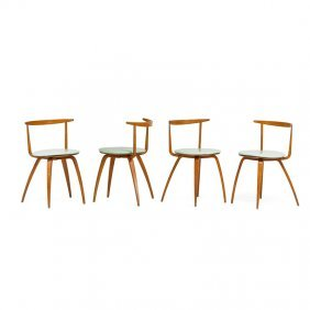 George Nelson; Herman Miller Four Pretzel Chairs