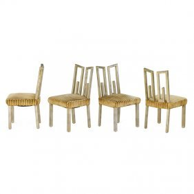 James Mont Four Dining Chairs